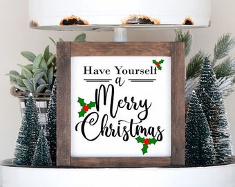 Have Yourself a Merry Christmas SVG cut file   holiday cutting file   Cricut   Silhouette