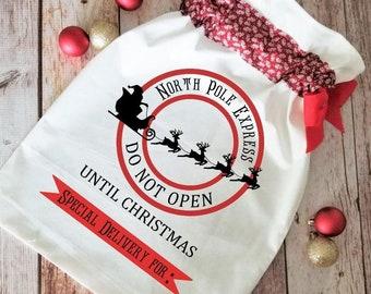 North Pole Delivery Santa Sack SVG cut file   Santa Bag cutting files   Cricut holiday
