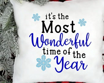 Most Wonderful Time of the Year svg cut files   holiday cutting files  farmhouse sign