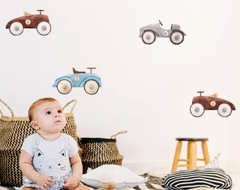 A219 Cars REUSABLE Decals Non-toxic Fabric Wall Decals for Kids