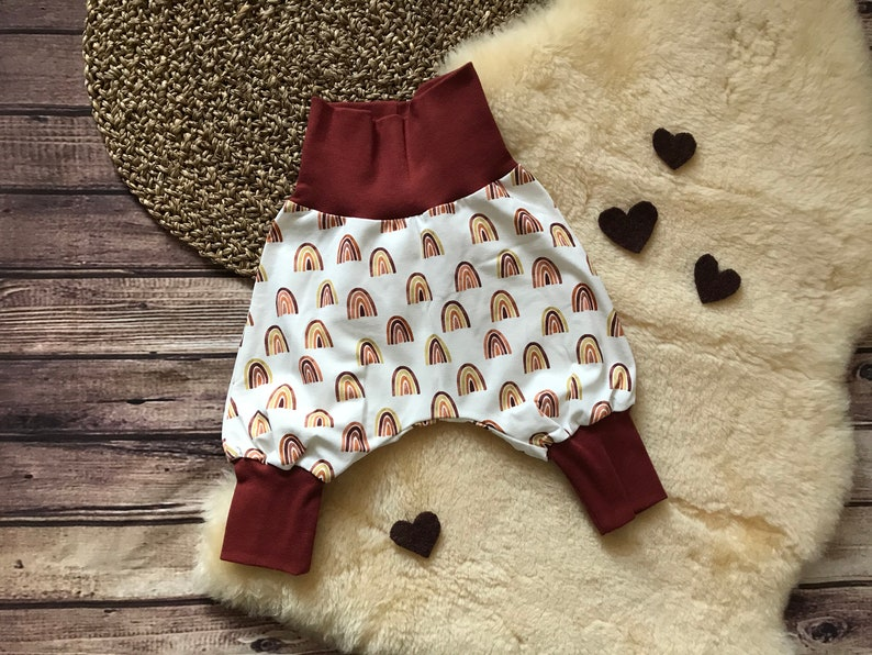 Pump pants with co-wax cuffs rainbow rust red for boys and girls size 56