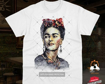 Frida Kahlo Selfie Fashion Painting Potrait Artwork Drawing Unisex T-shirt 0452