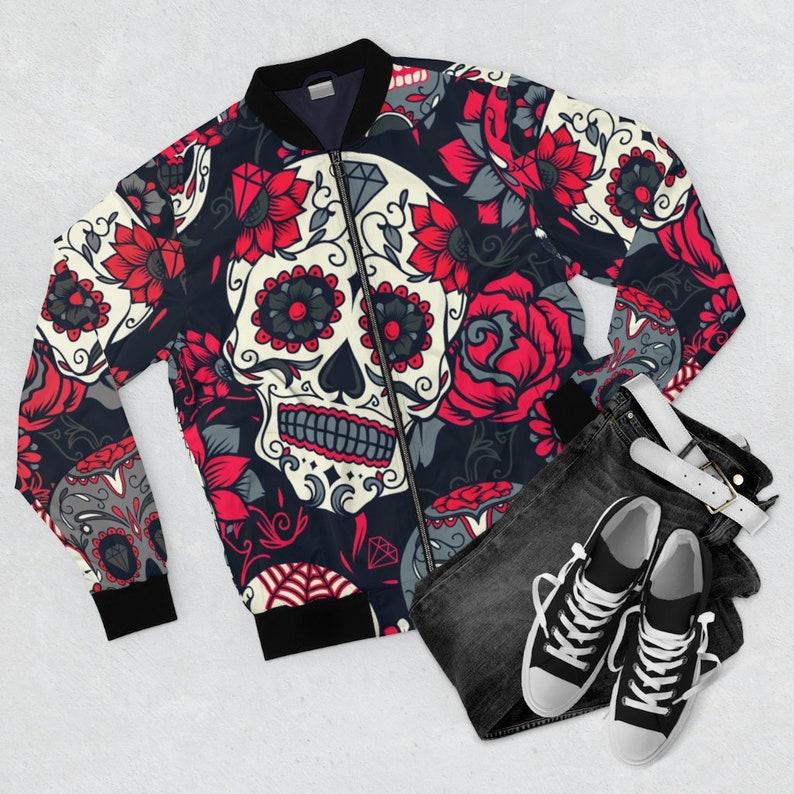 Sugar Skulls Men's AOP Bomber Jacket image 0