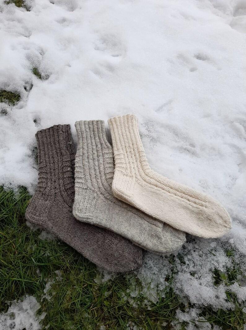 Natural 100 /% Wool Unisex Socks