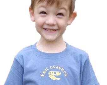 T-Rex Babies/Toddlers/Kids Personalised Dinosaur T-Shirt, Eric-osaurus, Personalised Children's T-Shirt