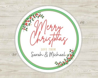 27 Personalised Christmas Labels Stickers, Christmas Gift Labels, Holiday Label, Gift Tag, Stickers for Children, Family Christmas Stickers