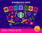Cinco De Mayo Starbucks Cup Svg, Let 39 s Fiesta Mexican Decal DIY Seamless Full Wrap Starbucks Venti Cold Cup 24 Oz, Cricut File svg eps png