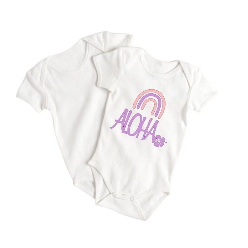 Beach Aloha Onesies for Baby Aloha Baby Clothes \u2013 Aloha Baby Shower Gift \u2013 Cute Baby Onesie Girls