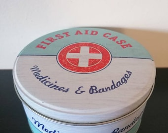 Vintage Style Box First Aid Tin-Vintage Style Band-Aid Plaster First Aid Tin-Kitchen Decor