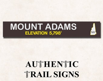 Mount Adams Elevation Hiking- Trail Sign from Authentic Trail Signs