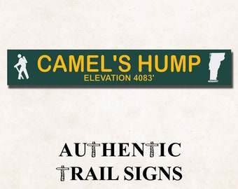 Camel's Hump Elevation Hiking- Trail Sign from Authentic Trail Signs