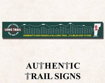 Hiking Elevation Point Series- Vermont Long Trail Sign from Authentic Trail Signs
