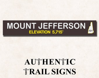 Mount Jefferson Elevation Hiking- Trail Sign from Authentic Trail Signs