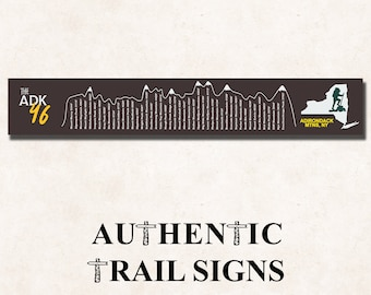 Hiking Elevation Point Series- New York Adirondack 46 Highest Peaks from Authentic Trail Signs