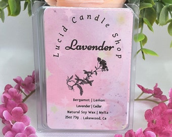 Lavender Wax Melts Pretty Florals   Highly Fragranced Oils Medium Scented