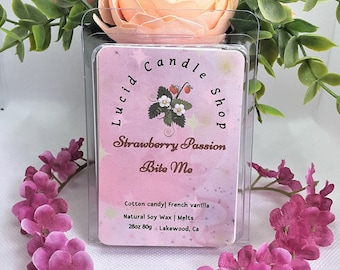 Strawberry Passion  Red   Wax Melts Fruity Highly Fragranced Oils Light Scented