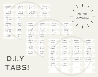 Printable Bible Tabs - DIGITAL DOWNLOAD ONLY