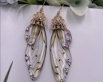 Vintage Romance Handmade Vintage Blue Flower Chandelier Earrings Long Earrings Romantic-Vintage Inspired Antique Style Brass