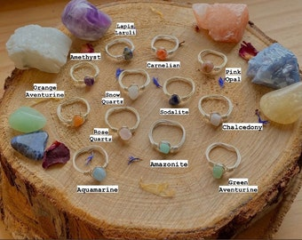 Silver Wire Crystal Rings