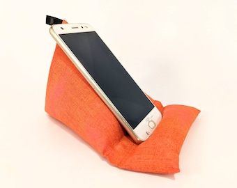 Cool Beans Phone Stand Pink fabric