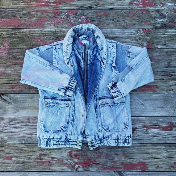 Vintage 1980's Gitano Chore coat/Parka style acid