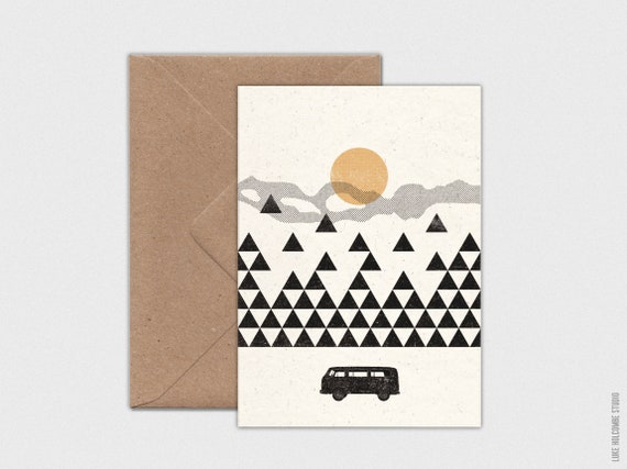 Forest View, Individual Card with Envelope: A6 Size (105 x 148mm)