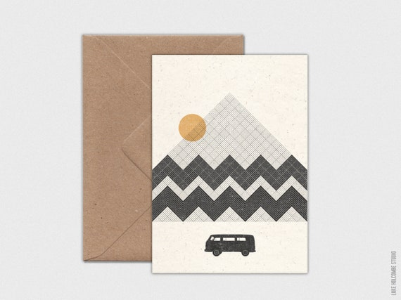 Mountain View, Individual Card with Envelope: A6 Size (105 x 148mm)