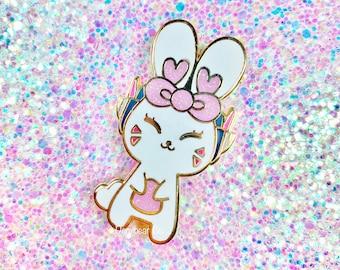 "Happy Video Game Inspired Bunny 2"" Hard Enamel Pin"