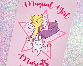 Magical Girl Mascots 4x6 Postcard Size Print