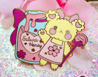 """Sakura Honey 2"""" Hard Enamel Pin"""