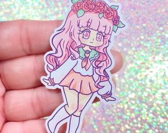"Kawaii Pastel Original Character 3"" Sticker"