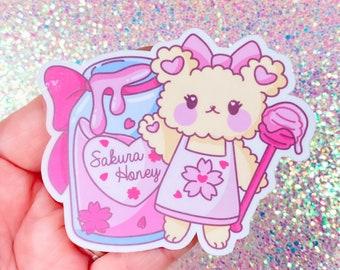 """Sakura-Chan with Sakura Honey Original Mascot Character 3"""" Sticker"""