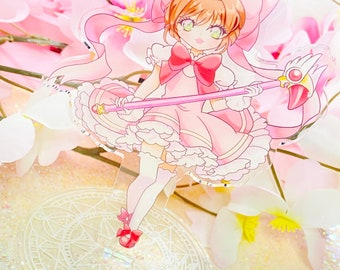 Magical Cardcaptor Clear Acrylic Standee, 5 inches tall Figurine/Standee