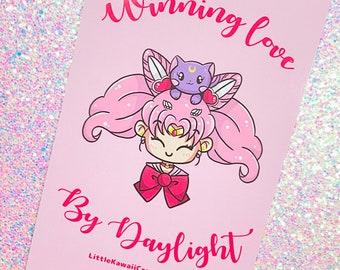 Magical Girl Chibi 4x6 Postcard Size Print