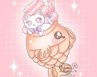 Kitty Taiyaki 4x4 Size Print