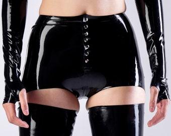 Latex Hipster Briefs Panties
