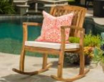 outdoor rocking chair cushion etsy