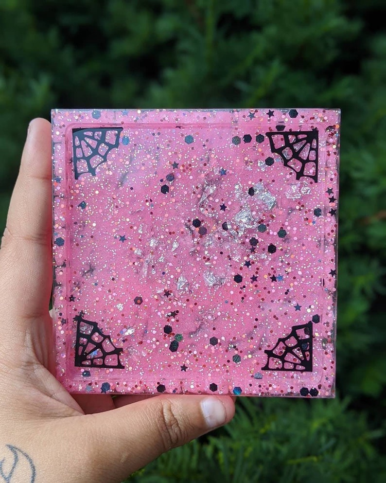 Jewelry Dish Pink /& Glitter