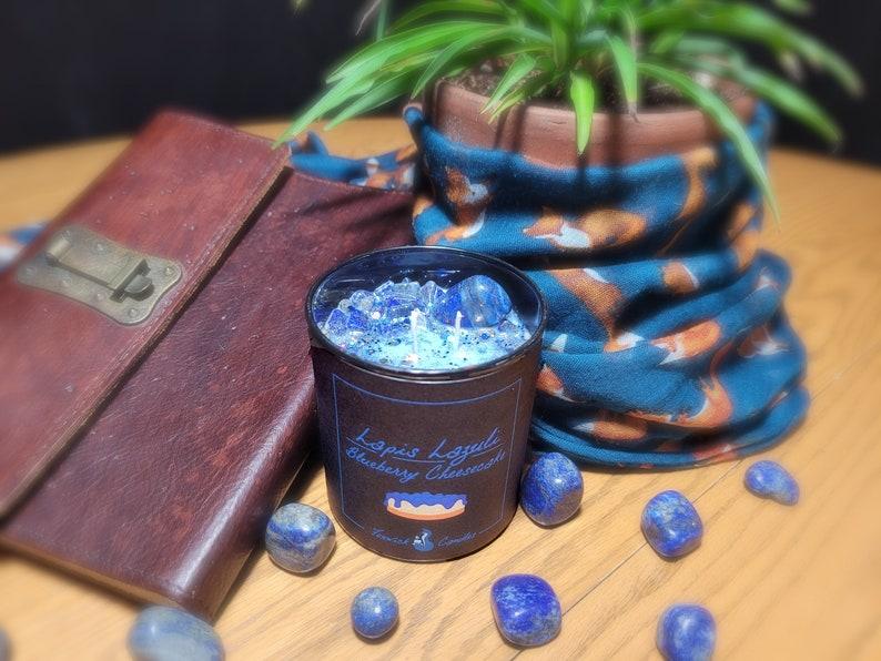 Lapis Lazuli Blueberry Cheesecake
