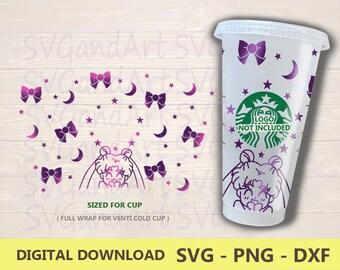 Sailor Moon Reusable Starbucks Cold Cup feat Dark Lady