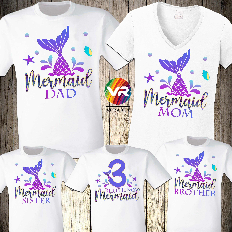Mermaid Mom Mermaid Birthday Party Shirt Mermazing Gift