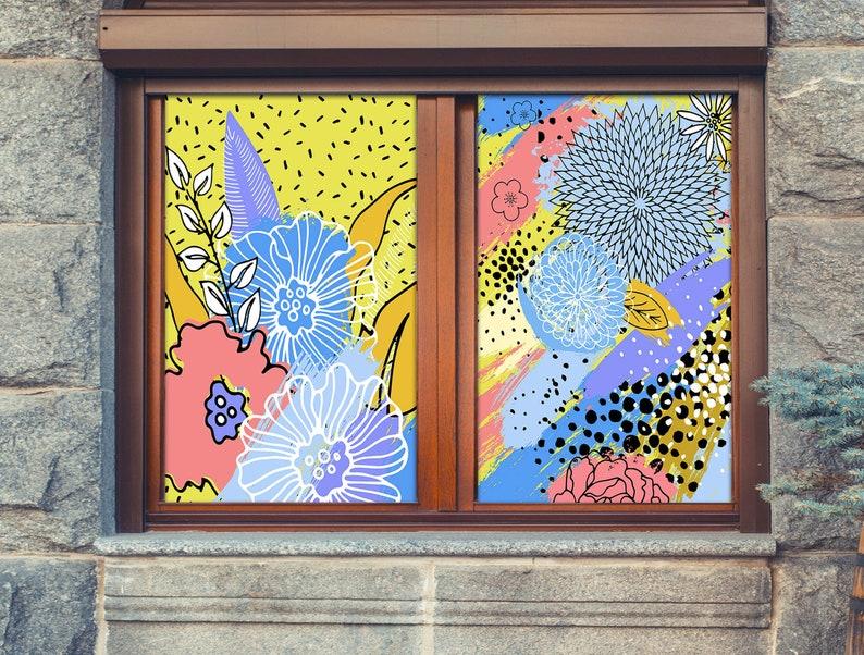 3D Farbe Graffiti W757 Fenster Film Druck Aufkleber Cling ...