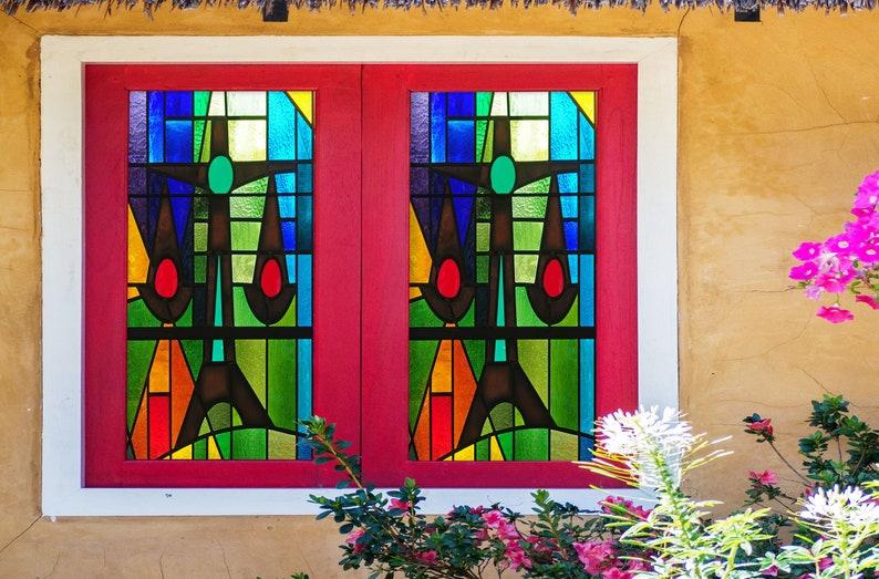 3D Farbe Ausdruck W436 Fenster Film Druck Aufkleber Cling ...