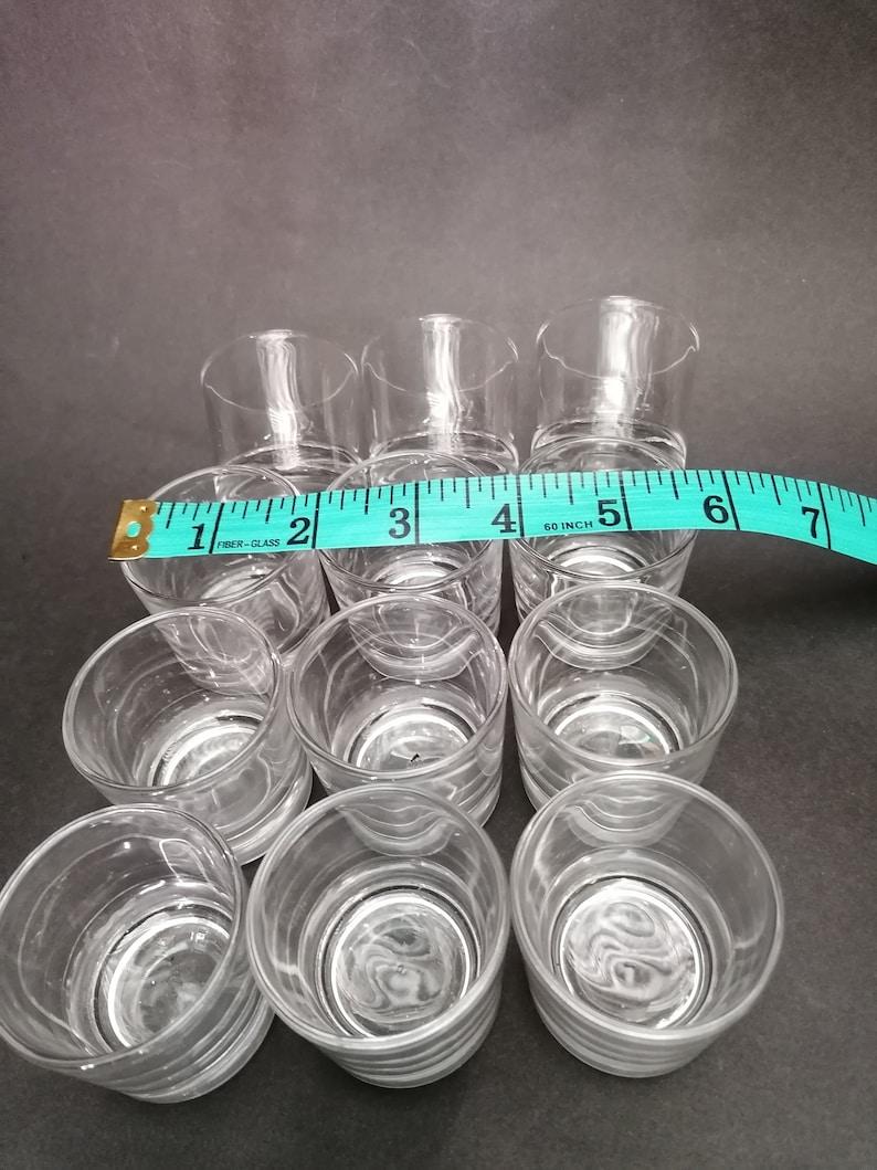 White Glasses,Family Friends Glasses Liquer Small Glasses Kitchenware,Home Decor Vintage Set of 12 Small Glasses