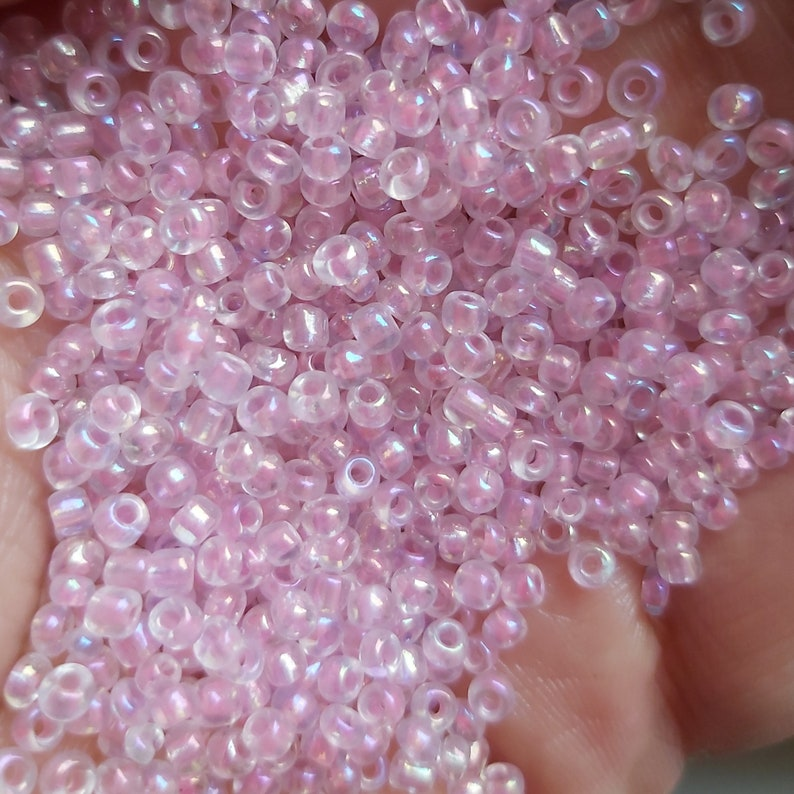 30g Pink Glass Seed Beads size 80 For Jewellery Making and Craft