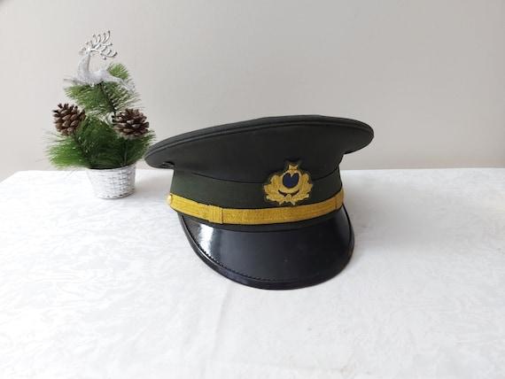 Vintage Original Soldier Cap, Turkish Officer Cap… - image 2