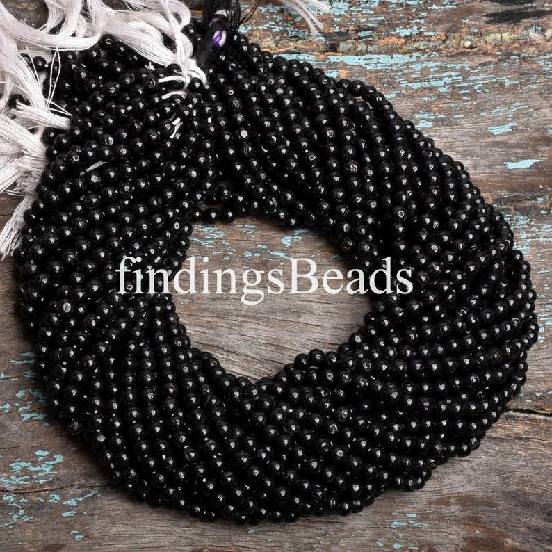 round Spinel plain Spinel natural black Spinel beads black Spinel beads black Spinel
