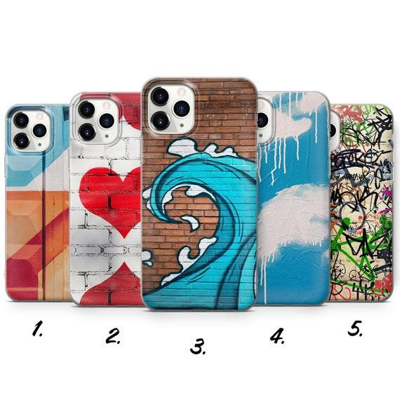Graffiti Phone Case Colourful Graffiti Art Streetart Cover for iPhone 7, 8, XS, XR, 11PRO max & Samsung S10, S20, A6, HUAWEI P20 P30, a10