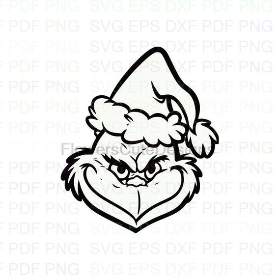 The Grinch Face Christmas Outline Svg Dxf Eps Pdf Png Cricut Etsy Choose from over a million free vectors, clipart graphics, vector art images, design templates, and illustrations created by artists worldwide! the grinch face christmas outline svg dxf eps pdf png cricut cutting file vector clipart