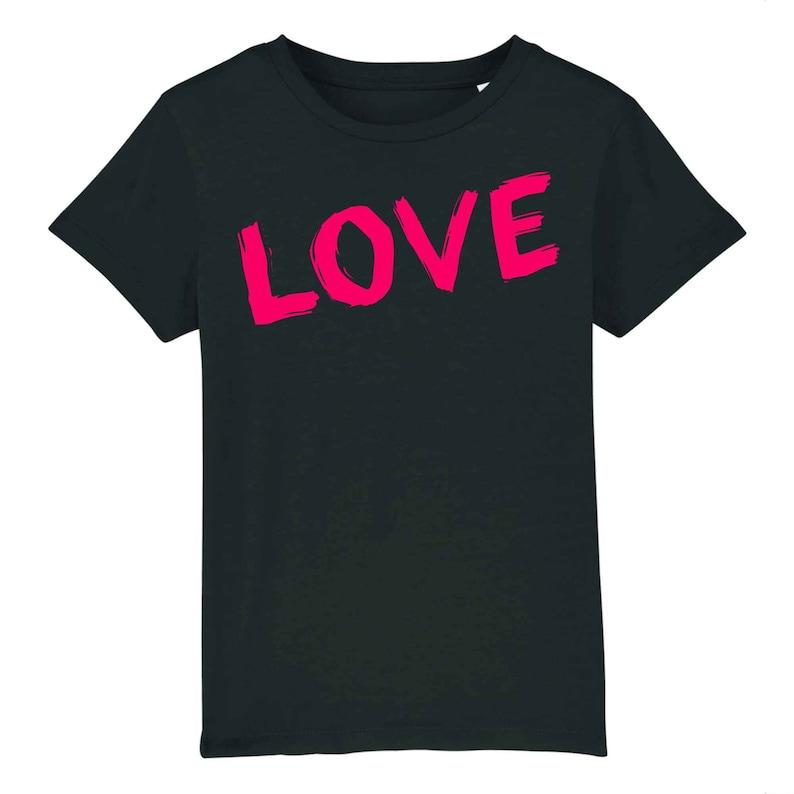 100/% organic cotton vintage love children/'s T-shirt